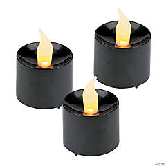 Black Battery-Operated Votive Candles