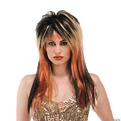 Black, Blonde & Copper Punk Diva Wig