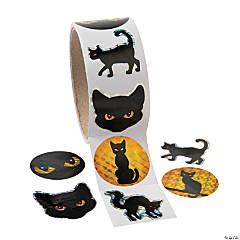 Black Cat Prism Stickers