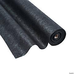 Black Embossed Floral Gossamer Roll