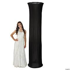 Black Fabric Column Slip