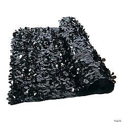 Black Floral Sheeting