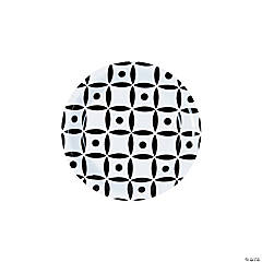 Black Geometric Dessert Plates
