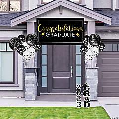 Black Graduation Outdoor Decorating Kit
