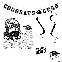 Black Graduation Party Room Decorating Kit