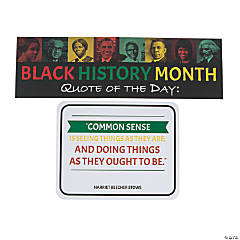 Black History Quote of the Day Bulletin Board Set