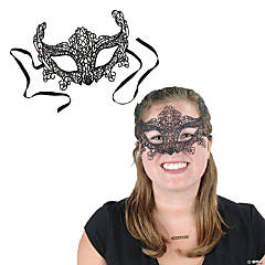 Black Lace Half Masquerade Mask