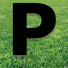 Black Letter P Yard Sign