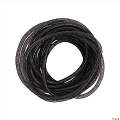 Black Mesh Tube Ribbon