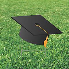 Black Mortarboard Hat Yard Sign