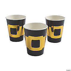 Black Paper Cups with Buckle