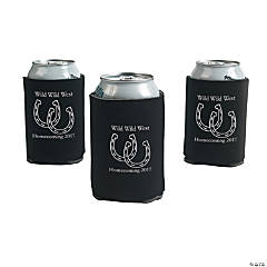 Black Personalized Horseshoe Can Coolers