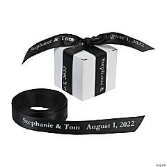 "Black Personalized Ribbon - 5/8"""