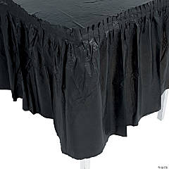Black Plastic Pleated Table Skirts