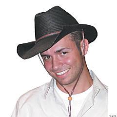 Black Rolled Cowboy Hat