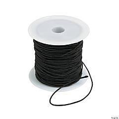 Black Round Elastic Cording