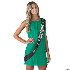 Black Sequin Graduate Sash