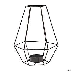 Black Tall Geometric Tea Light Holder
