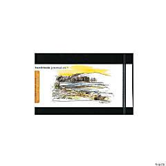 Black Travelogue Drawing Journal - Landscape