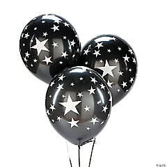 Black with Silver Stars 11