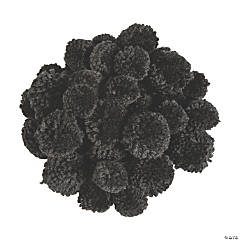 Black Yarn Pom-Poms