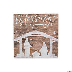 Blessings Nativity Sign