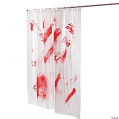 Bloody Shower Curtain Halloween Decoration