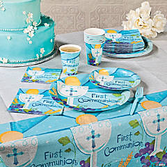 Blue 1st Communion Party Supplies