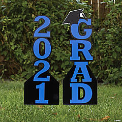 Blue 2021 Grad Yard Signs