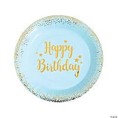 Blue & Gold Birthday Dinner Plates