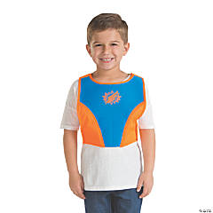 Blue & Orange Superhero Chest Plate