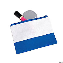 Blue & White Makeup Bag