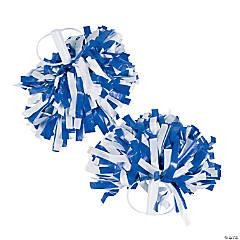 Blue & White Spirit Cheer Pom-Poms - 2 Pc.