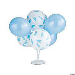 Blue Baby Shower Latex Balloon Bouquet Centerpieces