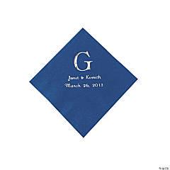 BLUE BEV MONOGRAM NAPKINS (PZ)