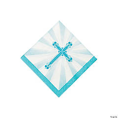 Blue Blessings Beverage Napkins
