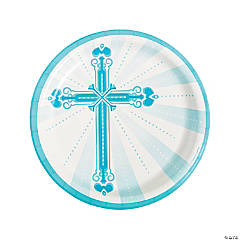 Blue Blessings Dinner Plates