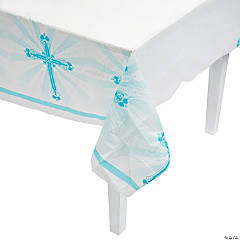Blue Blessings Tablecloth