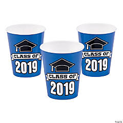 Blue Class of 2019 Cups