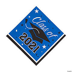 Blue Class of 2021 Luncheon Napkins