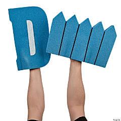 Blue D Fence Foam Hands