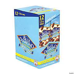 Blue Diamond Low Sodium Lightly Salted Almonds, 1.5 oz, 12 Count