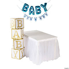 Blue Drive-By Baby Shower Decorating Kit