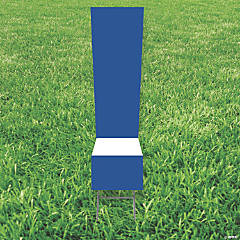 Blue Exclamation Point ! Yard Sign