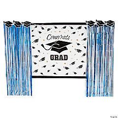 Blue Grad Backdrop Decorating Kit