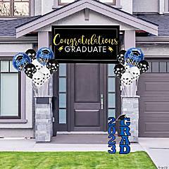 Blue Graduation Outdoor Decorating Kit