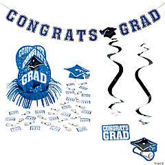 Blue Graduation Party Room Decorating Kit
