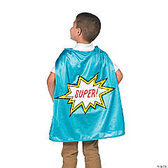 Blue Graduation Superhero Cape