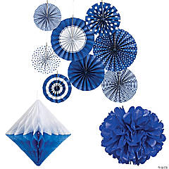 Blue Hanging Decorating Kit