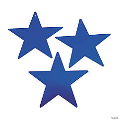 Blue Large Metallic Stars